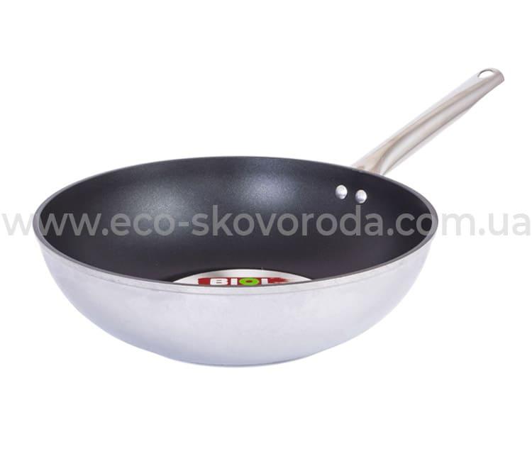 Сковорода WOK Биол Profi алюминиевая с антипригарным покрытием 28 см 2818Н